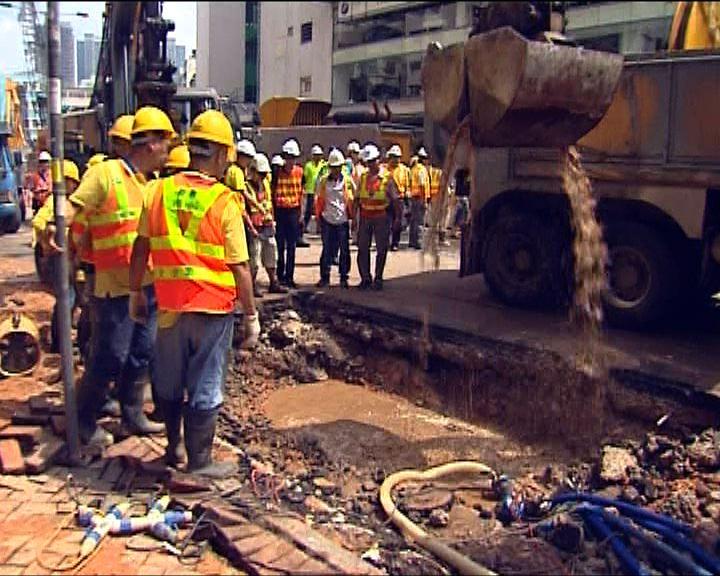 水務署指土瓜灣水管老化爆裂