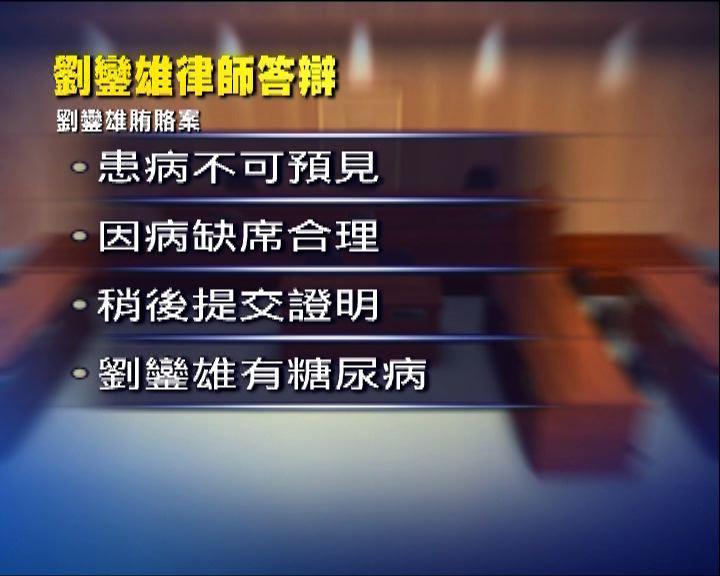 劉鑾雄再因病缺席涉賄案聆訊
