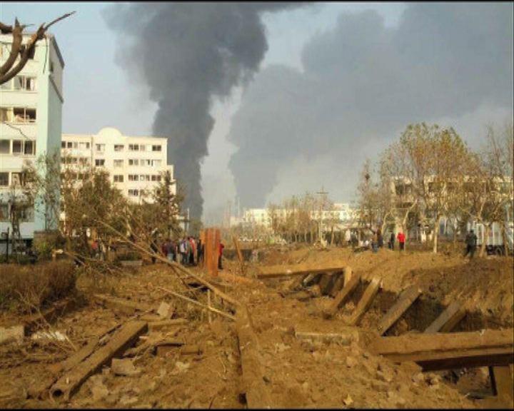 青島化工場區爆炸三死逾四十傷