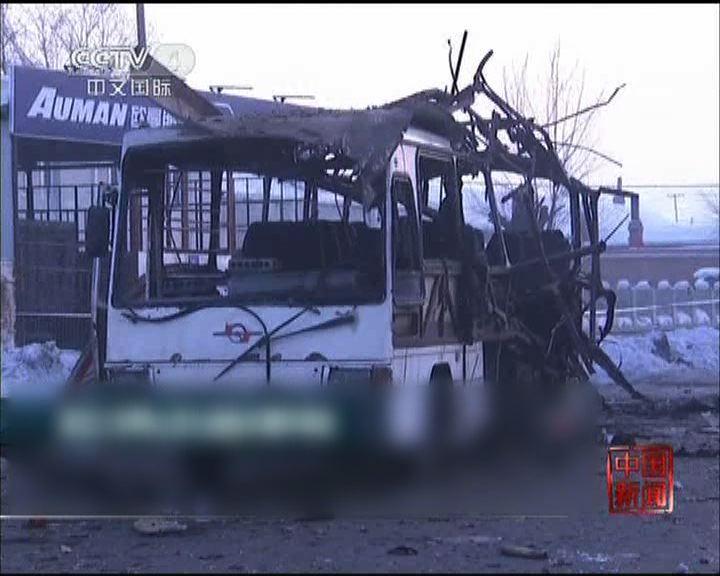 黑龍江接載員工巴士爆炸七死