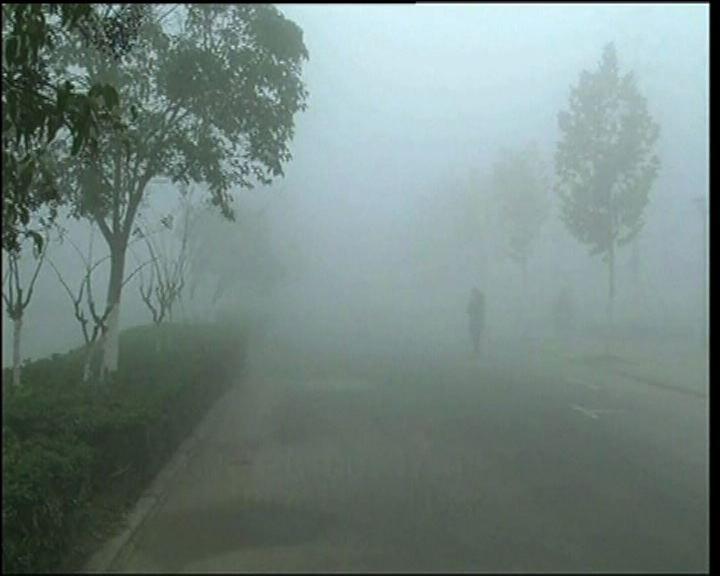 內地華東地區近日受霧霾影響