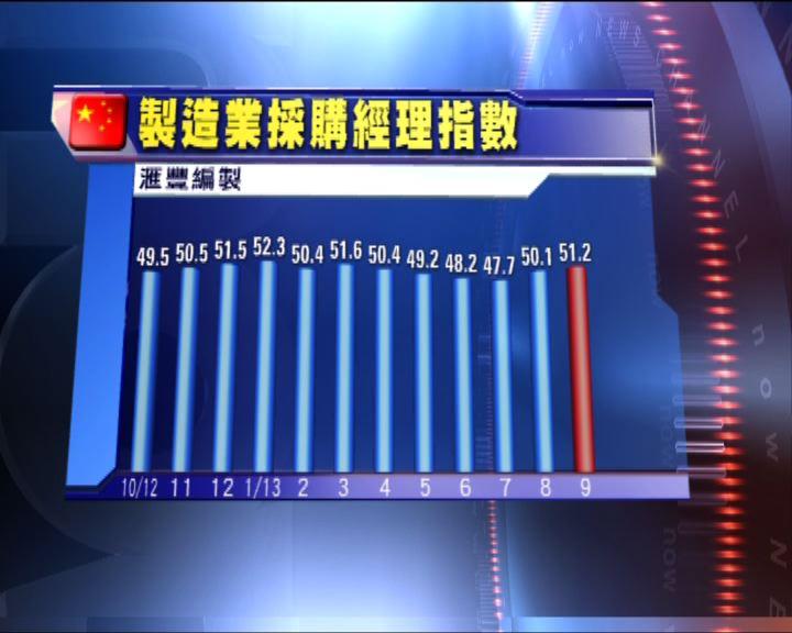 滙豐中國PMI9月初值勝預期