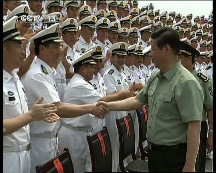 習近平視察海軍駐三亞部隊