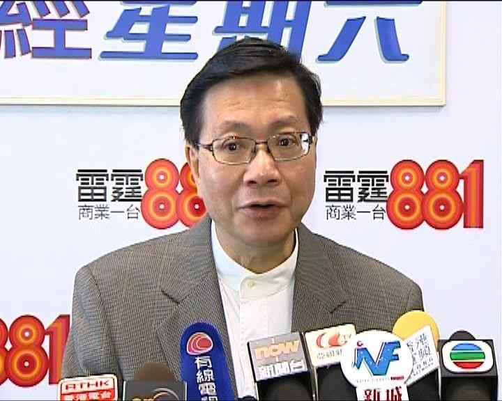 張炳良:自置物業須考慮承受力