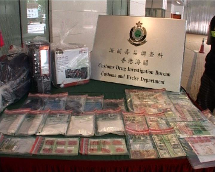 海關深圳灣管制站破私家車販毒
