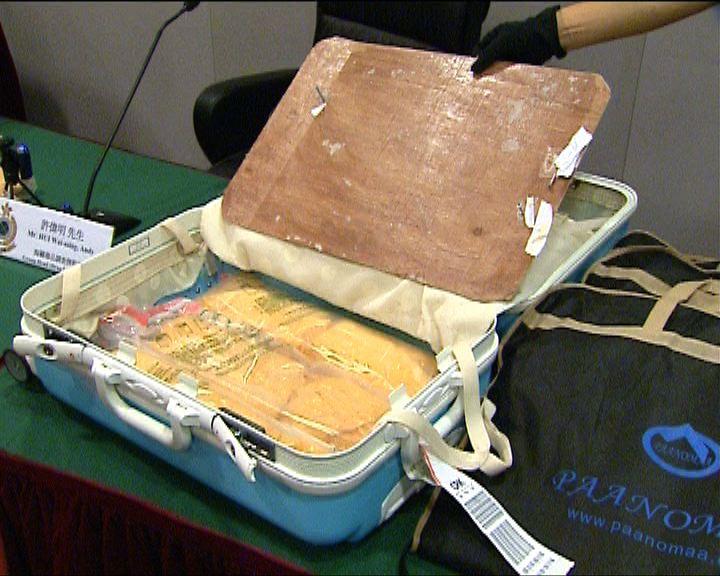 海關機場檢值逾一千萬冰毒拘兩女子