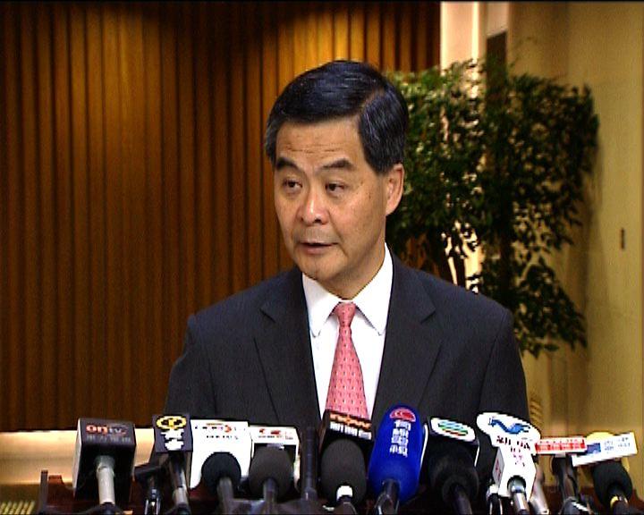 梁振英歡迎中止審議財政預算案辯論