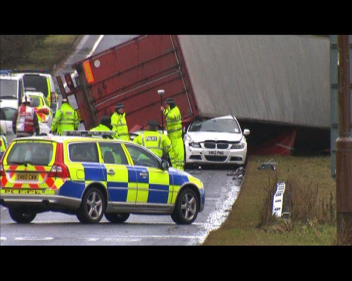北歐風暴導致交通受阻