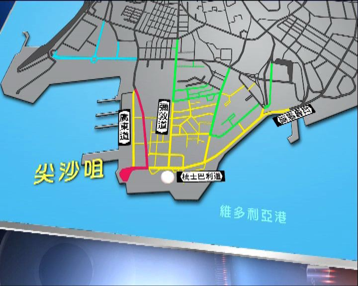 煙花匯演多區有封路措施