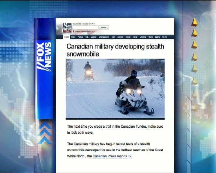 環球薈報:加拿大軍方測試新型雪地電單車