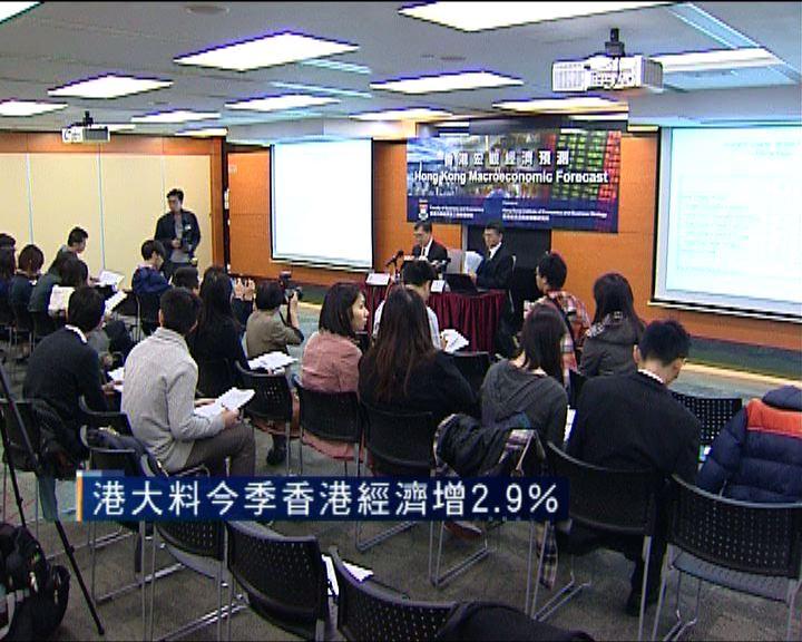 港大料今季香港經濟按年增長2.9%