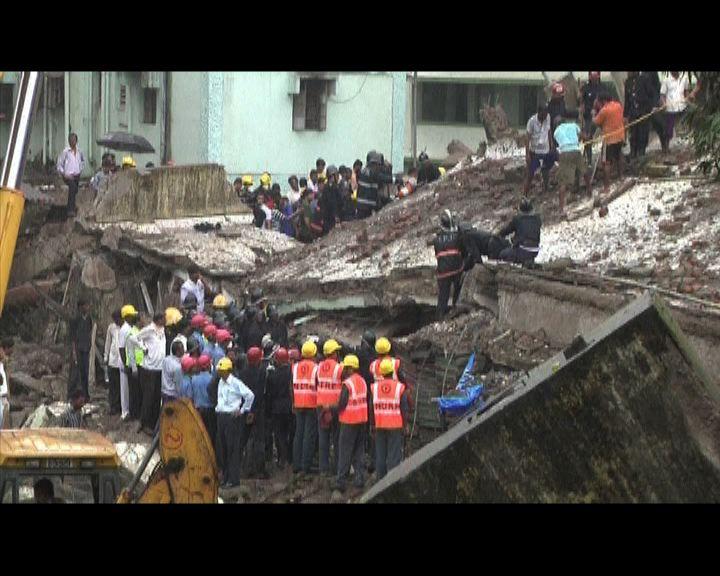 孟買樓宇倒塌近百人恐被埋