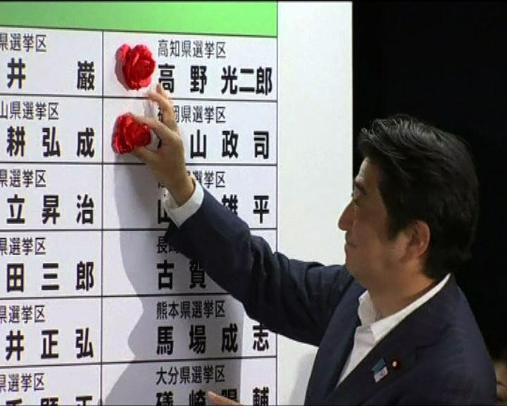 日本執政聯盟參議院改選大勝