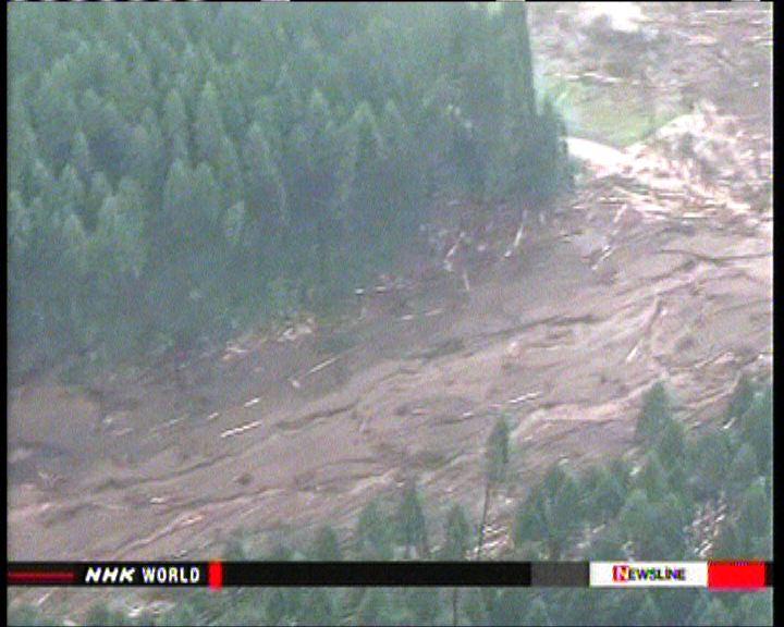 日本東北部暴雨引發洪災