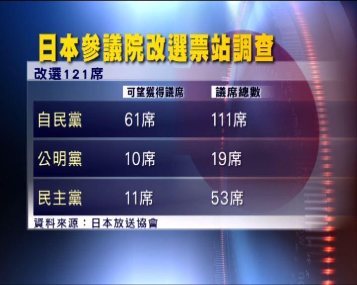 日本參議院改選投票結束