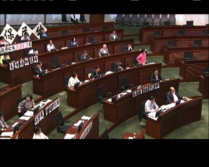 立法會下午繼續表決預算案修正案