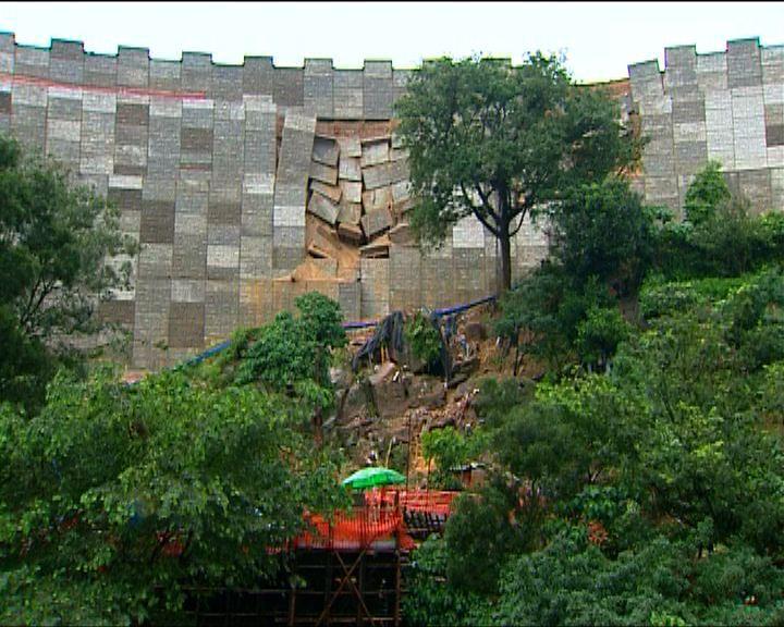 順安道護土牆倒塌致山泥傾瀉