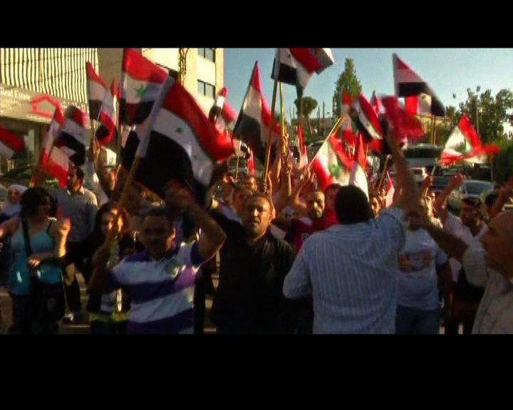 黎巴嫩有示威抗議軍事介入敘國