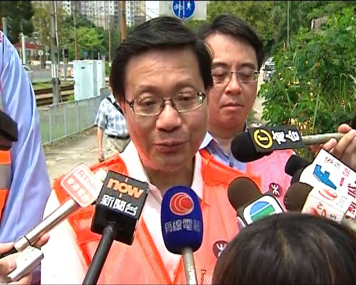 張炳良:若港鐵證實疏忽將罰款