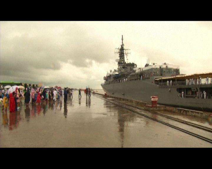 日本三艘軍艦抵達緬甸訪問