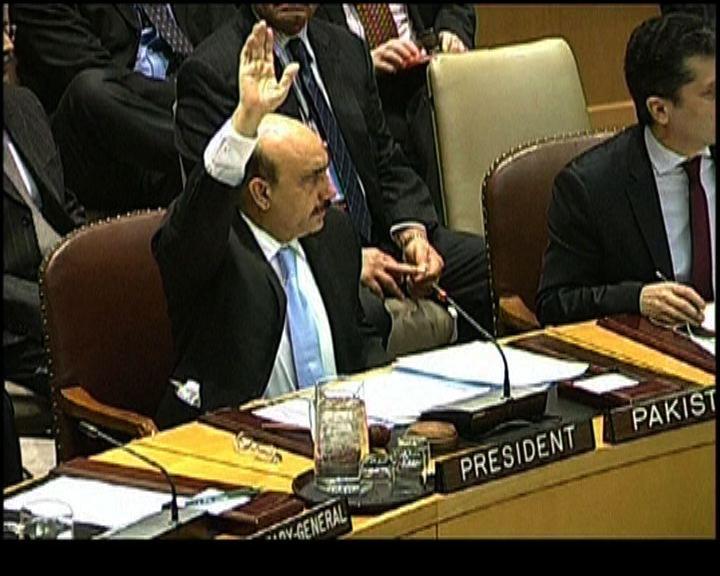 安理會通過決議譴責北韓發射火箭