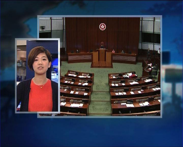 政情:立法會會議廳流會前廳無人坐