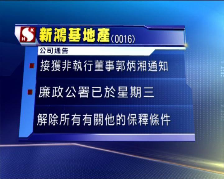 郭炳湘獲廉署取消所有保釋條件