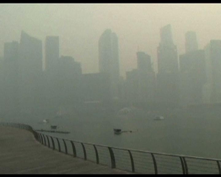 新加坡空氣污染稍為回落