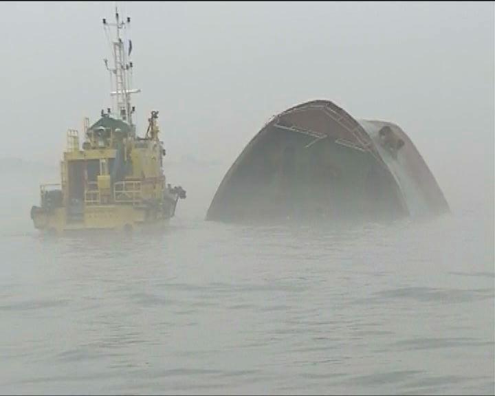 內河船相撞六人仍失蹤現場非常大霧