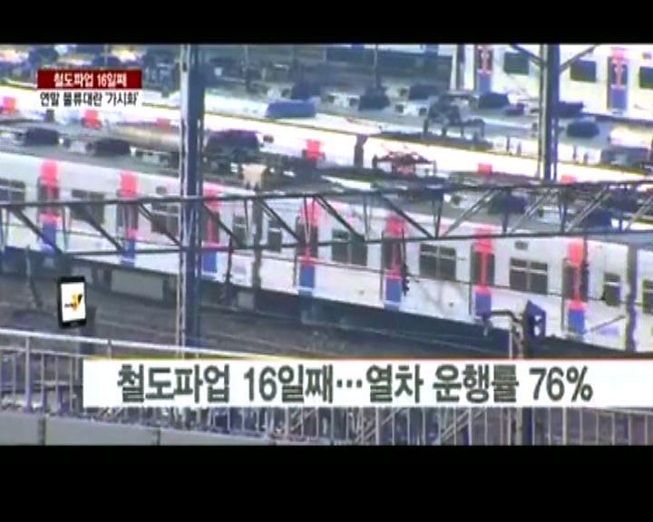 南韓鐵路勞工政府矛盾源於固有利益
