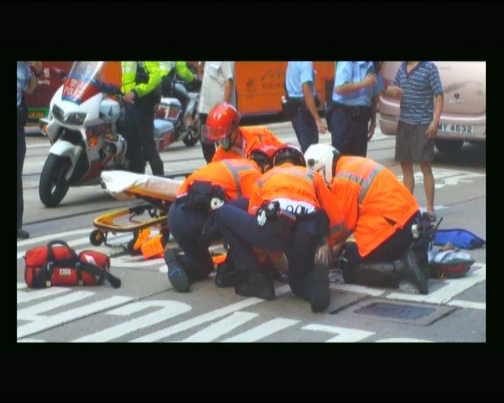 中區女途人被旅遊巴士撞倒昏迷