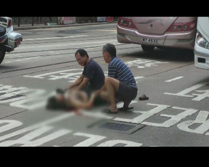 中區女途人被旅遊巴士撞倒死亡