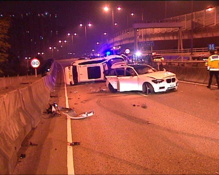 沙田三車相撞三人受傷