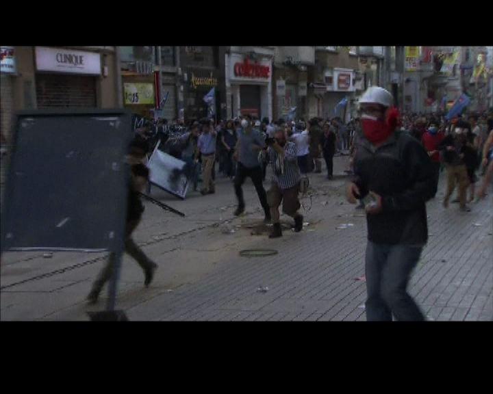 土耳其鎮壓和平示威演變成衝突