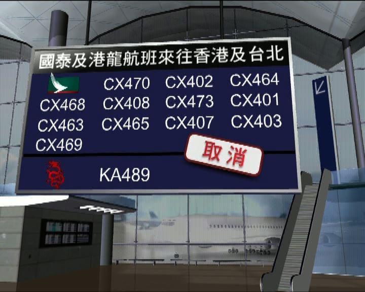受颱風影響多班來往港、台航班取消