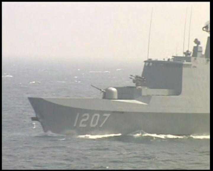 台海軍南海軍演展護漁決心