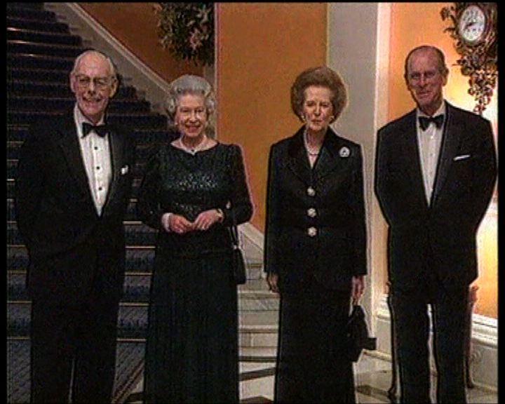 英女王與各任首相哀悼戴卓爾夫人