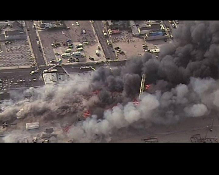 新澤西州海濱區大火焚毀店舖
