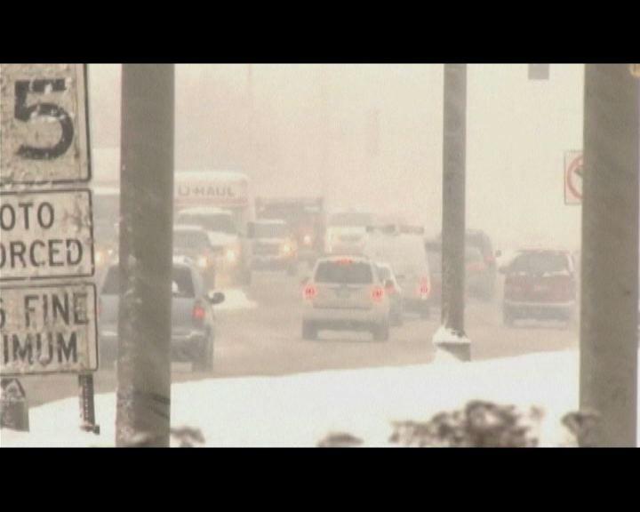 美國東北及中西部暴風雪交通受影響
