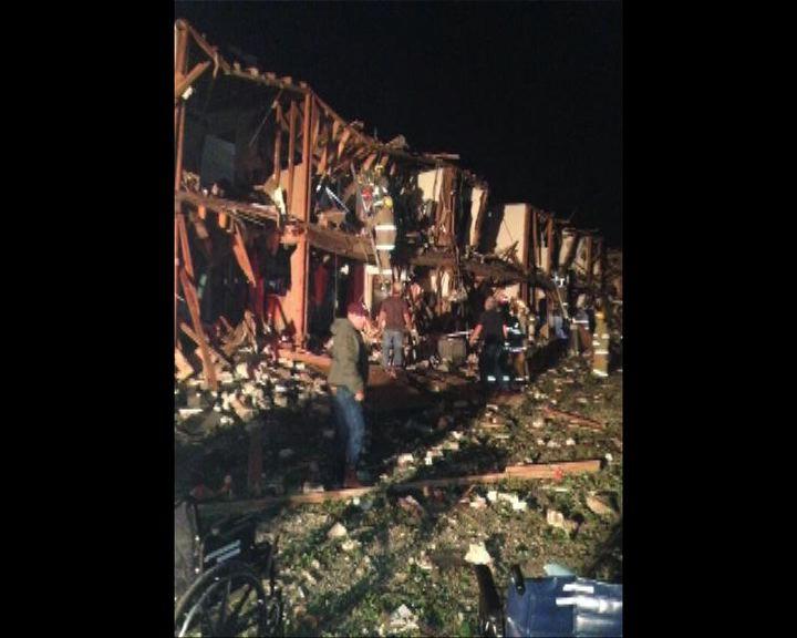目擊者稱化肥廠附近建築物被夷平