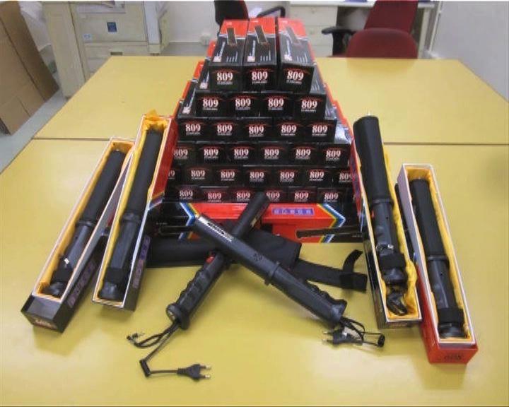 海關屯門內河碼頭檢大批武器