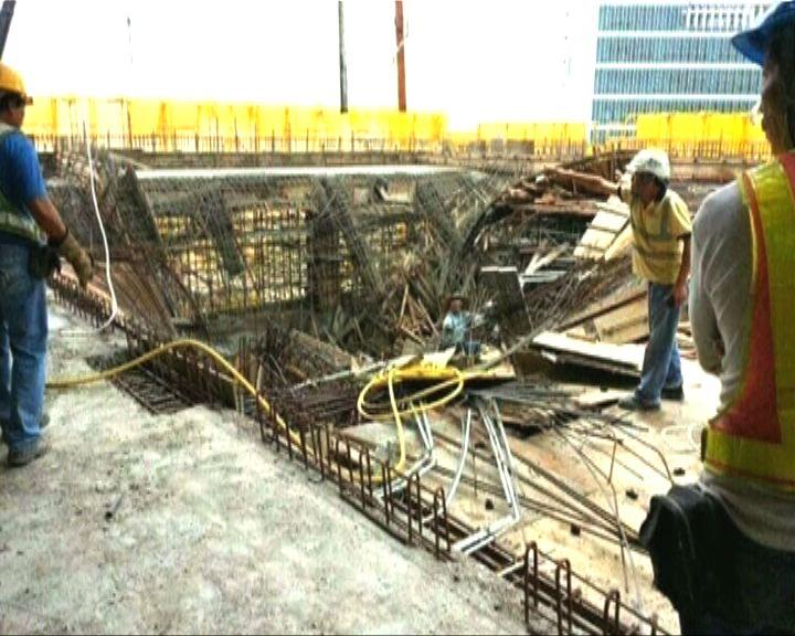 科學園地盤大幅鋼筋連石屎倒塌