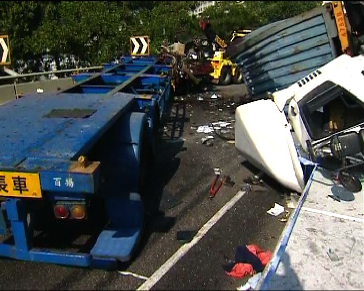 受傷貨櫃車司機涉危駕導致他人死亡被捕