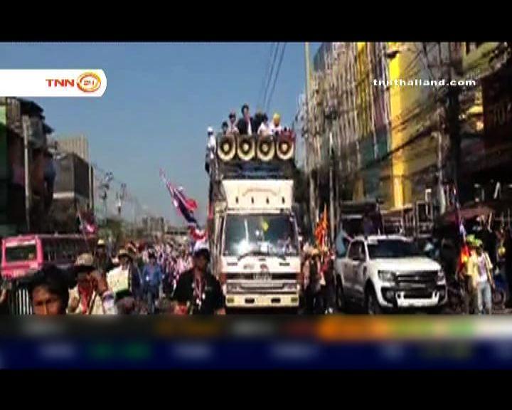 反政府示威者繼續在曼谷遊行