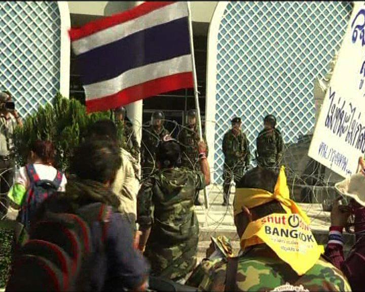 泰反政府示威持續軍警未有阻止