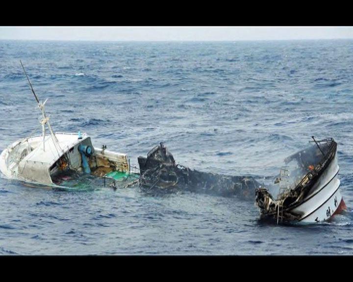 台漁船起火漂流5人失蹤