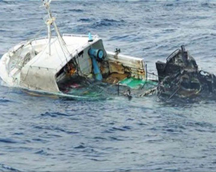 台漁船沖繩海域起火漂流1人獲救