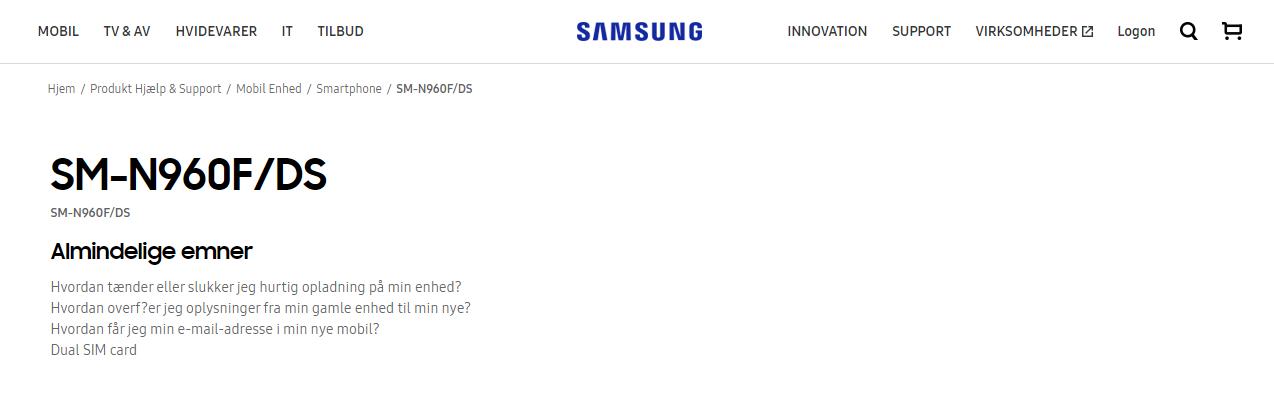 Galaxy Note 9 官方網站正式現身