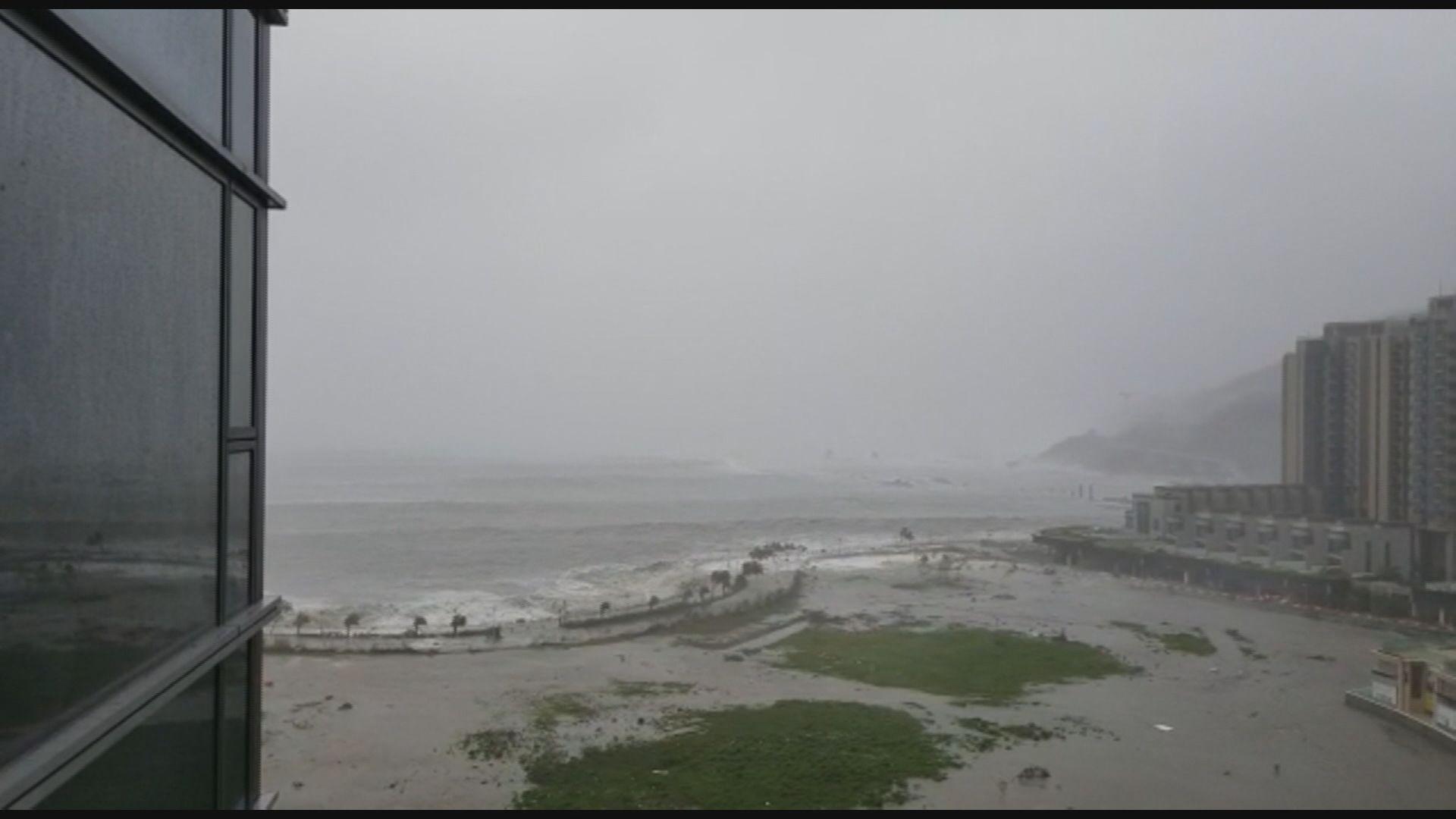 水位急升 小西灣及將軍澳水浸