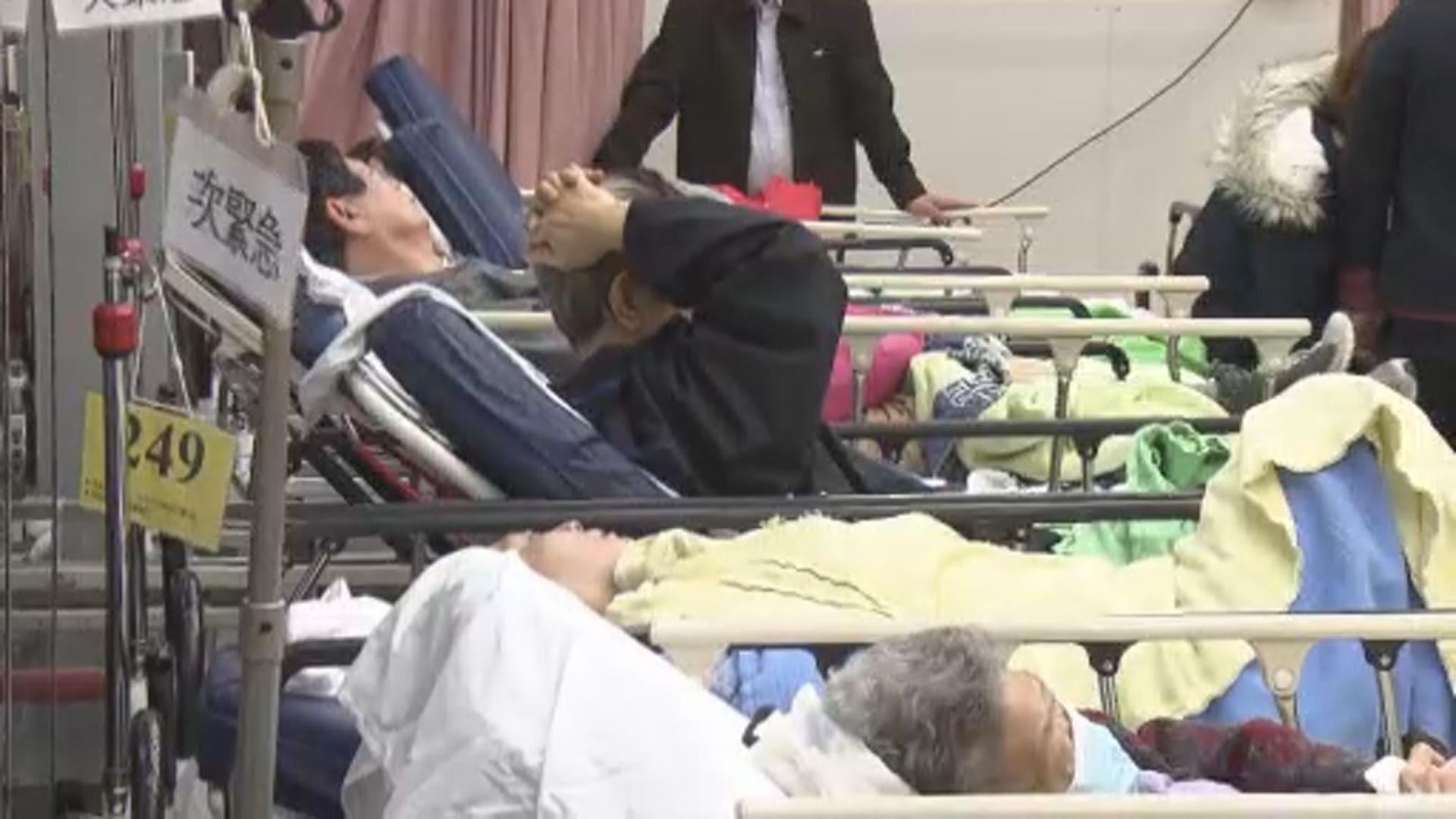 周日多間公立醫院內科病床續爆滿